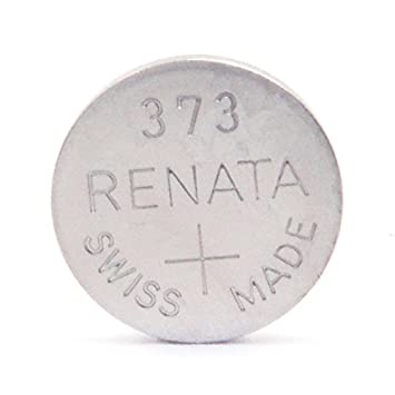 7411a8ea4 Renata - Pila botón óxido de plata 373 RENATA 1.55V 29mAh: Amazon.es:  Electrónica