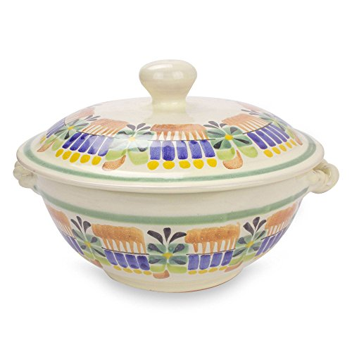 NOVICA 227401 Acapulco' Majolica Ceramic Soup Bowl