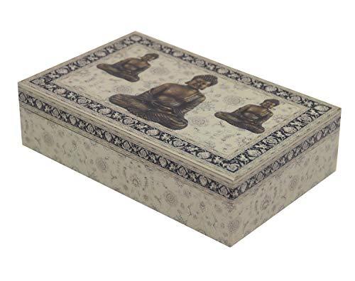 DharmaObjects Decorative Jewelry Trinket Keepsake Storage Box (Buddha Zen, 8