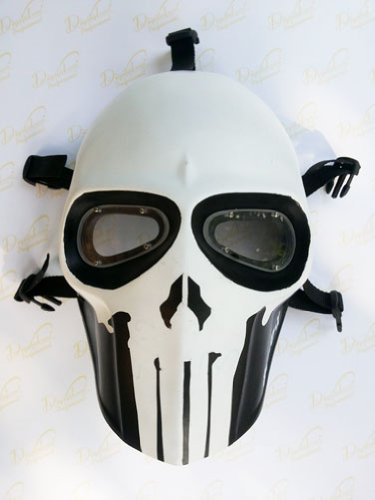 Unique New Handmade the Punisher Triple X Paintball Airsoft Bb Gun Mask Black White Army Protective Gear Outdoor Sport and Fancy Party Ghost Masks -