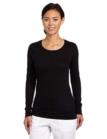 Carhartt Women's Scrubs Long Sleeve Burnout Jersey Tee, Black, X-Small
