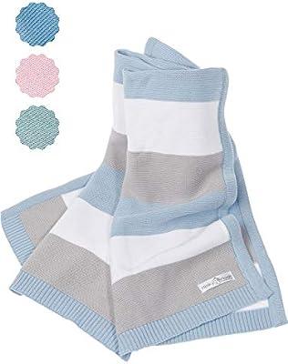 Manta de bebé hecha de 100% algodón orgánico - manta de punto ...