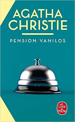 Pension Vanilos Le Livre De Poche French Edition Agatha