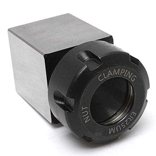 DyNamic Hard Steel Square Er-25 Collet Chuck Block Lathe Tool Holder