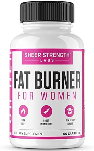 Thermogenic Fat Burner for Women – Triple-Strength Metabolism Booster, Appetite Suppressant Carb Blocker – Natural Ingredients Support Healthy Weight Loss – 60 Diet Pills – Sheer Strength