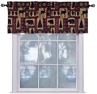 Amazon Com Spring Home Cabin Pine Lodge Wildlife Window Valance Home Kitchen