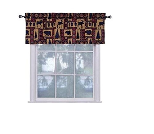 Cabin Pine Lodge Wildlife Window Valance
