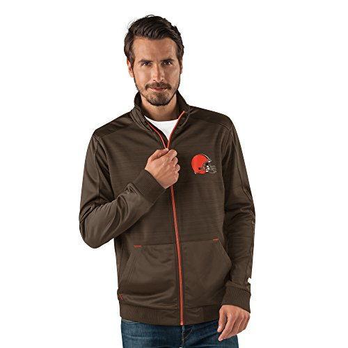 G-III Sports NFL Cleveland Browns Men's Progression Full Zip Track Jacket, Small, Brown (Jacket Mens G-iii)