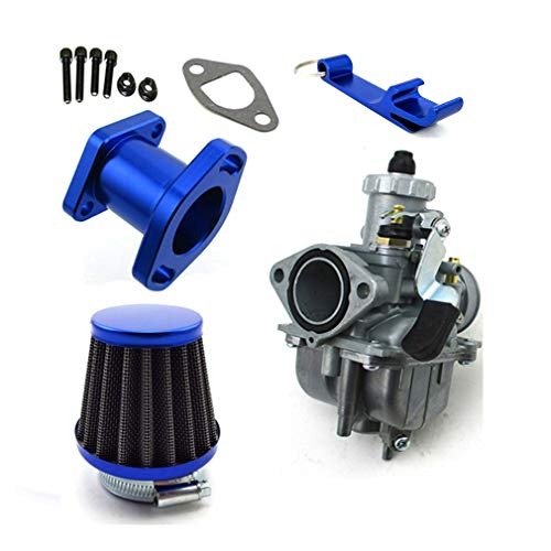 TC-Motor Racing Performance Mikuni VM22-3847 Carburetor Carb Mainfold 38mm Air Filter For Predator 212cc GX200 196cc Go Kart Mini Bike (Blue)