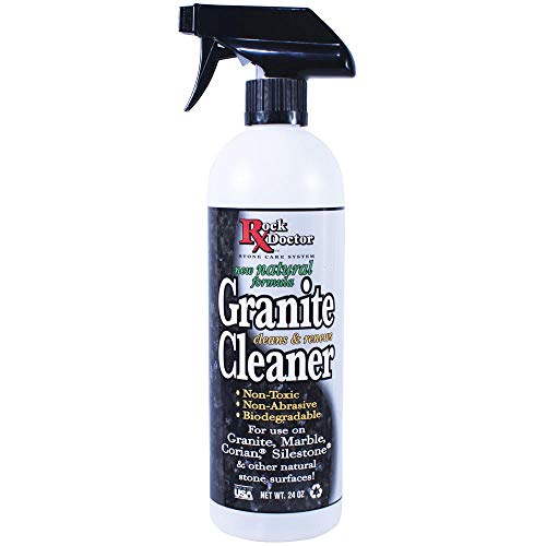 Rock Doctor Natural Granite Cleaner for a Sparkling Kitchen, Natural Cleaner - Non-Toxic Granite Cleaner for Kitchen Counter, Table Top & Marble Countertop - Biodegradable pH Neutral Cleaner, 24 oz.
