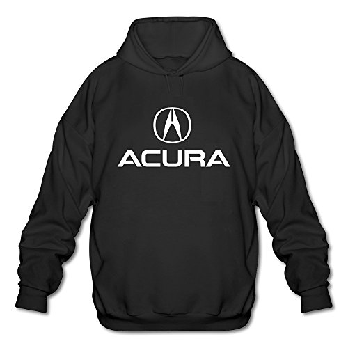 - FZLB Men's Acura Logo Long Sleeve Hooded Sweatshirt Large Black