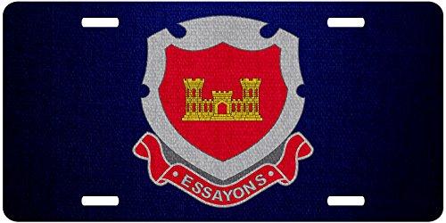 ExpressItBest Premium Aluminum License Plate - U.S. Army Corps of Engineers, regimental insignia