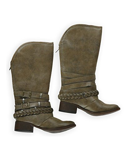 cacaymanstone Strap Womens Candie's Boots Riding Buckle nHAB8