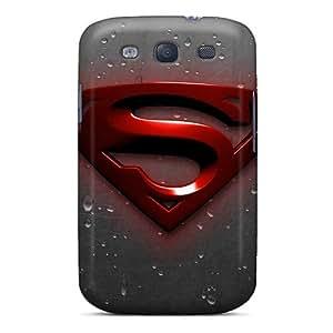 SherieHallborg Samsung Galaxy S3 Bumper Hard Phone Case Support Personal Customs High-definition Superman Image [qYs646eTyk]