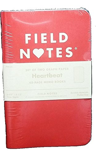 Field Notes Heartbeat Limited Edition Graph Memo Books, 2-Pack (3-1/2'' × 5-1/2'') by Field Notes