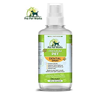 Premium Pet Dental Water Additive for Dogs Cats & Small Animals-Dog Dental Care for Bad Pet Breath-Oral Mouth Care That Fights Tartar, Plaque and Gum Disease- [17 oz] Dog Toothpaste Deodorizer 6