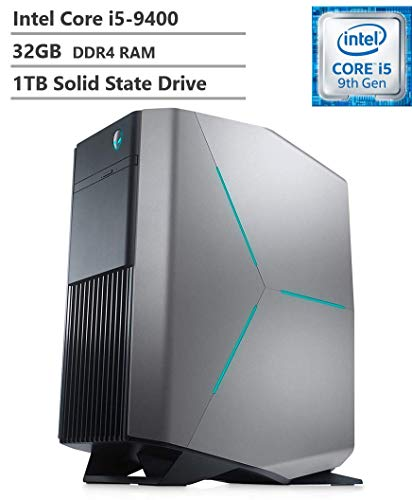 2019 Alienware Auaora R8 Tower Gaming Desktop PC, Intel Core i5-9400 2.90GHz, NVIDIA GeForce GTX 1660Ti 6 GB, 32GB DDR4 RAM, 1TB SSD, 802.11ac + Bluetooth, HDMI, DisplayPort, USB 3.1, Windows 10