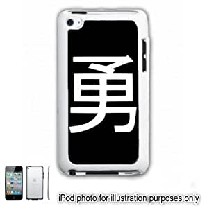 Courage Kanji Tattoo Symbol iPOD 4 Touch Hard Case Cover Shell White 4th Generation White