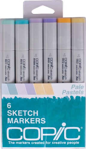 Copic Markers 6-Piece Sketch Set, Pale (Copic Drawing)