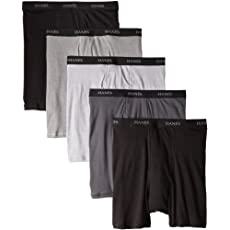 Hanes Men's 5-Pack Ultimate FreshIQ Boxer with ComfortFlex Waistband Brief - Assorted Colors