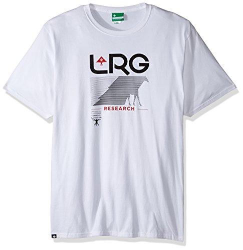 LRG Men's Big and Tall Research Path T-Shirt, White, 4XL