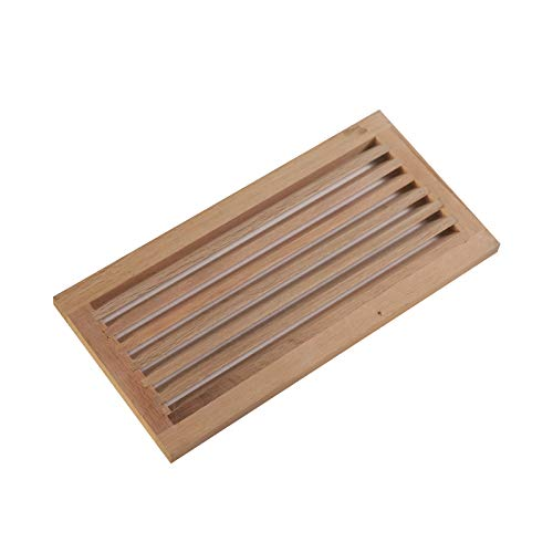 (WELLAND 8 Inch x 16 Inch Red Oak Hardwood Register Cold Air Return Wall Vent, Unfinished)