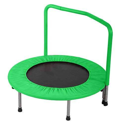 Trampoline Kid Trampoline Portable Trampoline For Kids With Handrail And Padded Cover Rebounder Jumping Mat Safe for Kid w/Padded 36 Inch trampoline Fitness Equipment by PayLessHere
