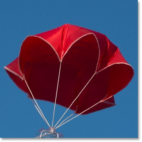 "24"" Red Rip-stop Nylon Parachute for Water or Model Rocket by Relationshipware"