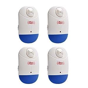 Ultrasónica repelente de plagas repelente para mosquitos cucarachas Ratones Ratas moscas y más Pack de 4