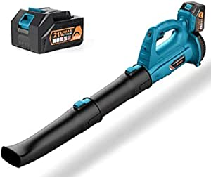 Cordless Leaf Blower - 150MPH 320CFM Battery Powered Leaf Blower with 2 Section Tubes, 6 Speeds, Electric Leaf Blower with 4.0Ah Battery & Charger for Dust, Snow Debris,Yard, Work Around The House