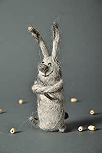 """Toy In The Technique Of The Dry And Wet Felting """"Bunny"""""""