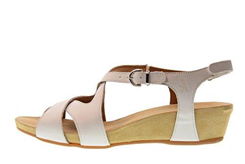 Blanc Benvado Femme Cassé 280111400 Zeppetta Cuir Viola Bianco En Déchirures Blanches Sandales T7UzTq