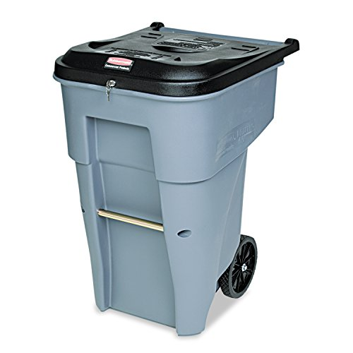 - Rubbermaid Commercial Products BRUTE Confidential Document Rollout Waste/Utility Container, 65-gallon, Gray (FG9W1088GRAY)
