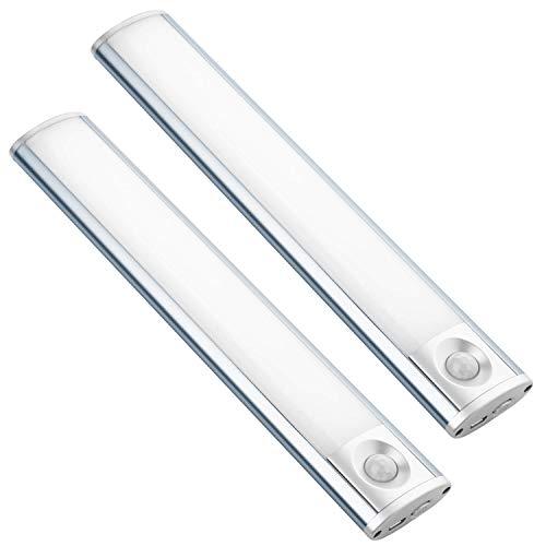 Stick Anywhere Motion Sensor Rechargeable Cabinet Wardrobe Kitchen Lights - Battery Powered Closet Lighting, Cordless Luxury Aluminum Pantry Light