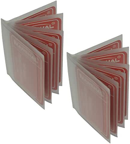 Set of 2 Heavy Duty Vinyl 6 Pages Insert for Bifold or Trifolds Wallet MADE IN USA