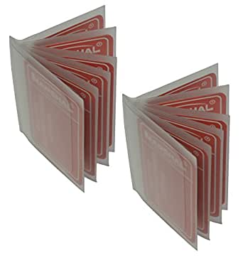 SET of 2 - 6 Page Plastic Wallet Insert for Bifold Billfold or Trifolds Top Load
