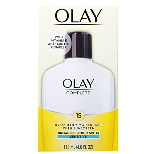 OLAY Complete All Day Moisturizer SPF 15, Sensitive 4 oz (Pack of 3)