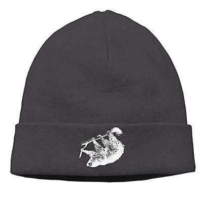 Sloth Pattern Men Skull Cap Slouchy Printing Commemorative Edition Winter Hats - Sloth Beanie