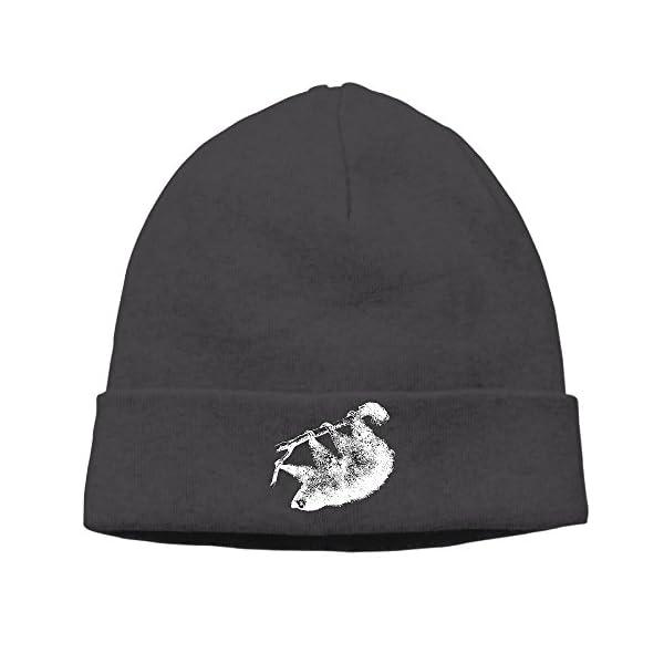 Sloth Pattern Men Skull Cap Slouchy Printing Commemorative Edition Winter Hats -