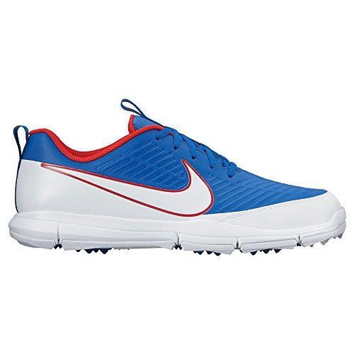 Nike Explorer 2 Spikeless Golf Shoes 2017 Blue Jay/White/University Red Medium (Golf Two Wood)