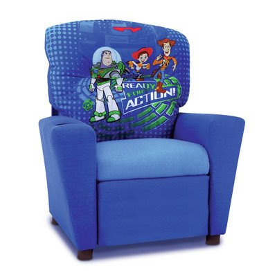 Toy Story 3 Kids Recliner in Blue - Toy Story Storage