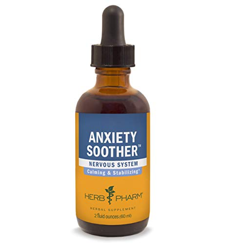 (Herb Pharm Anxiety Soother Liquid Herbal Formula with Kava for Nervous System Support - 2 Ounce)