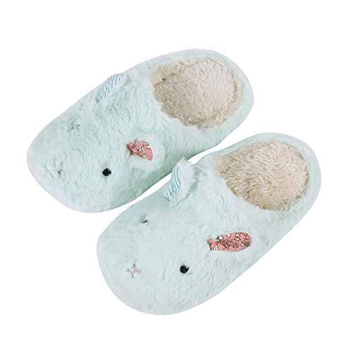 for Slippers Cute Animal Sole Hedgehog Indoor Rabbit Dog Aqua Waterproof Bedroom House Slippers Kids Fuzzy Family Slippers O0qwrOxd