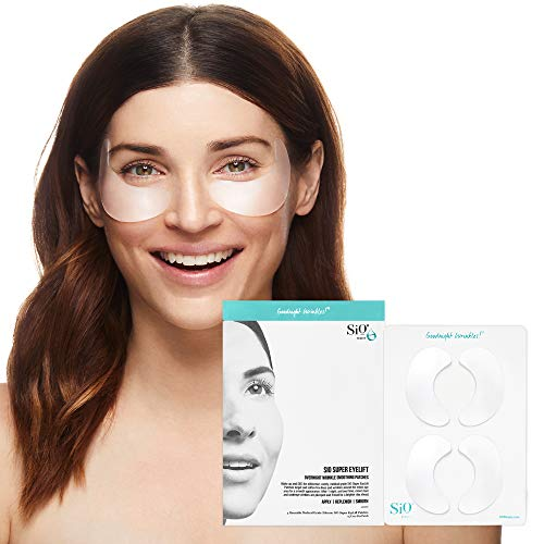 SiO Beauty Eye and Smile Lift Anti-Wrinkle Patches 4 Week Supply -  Overnight Under Eye Mask Pads For Dark