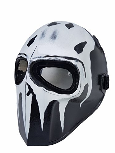 Airsoft Full Face Mask Army of two Cosplay Halloween mask Paintball YELLOW SMILEY Ghost Masks (Jason)