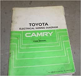 1986 toyota camry electrical wiring diagram troubleshooting manual ewd oem  paperback – 1986