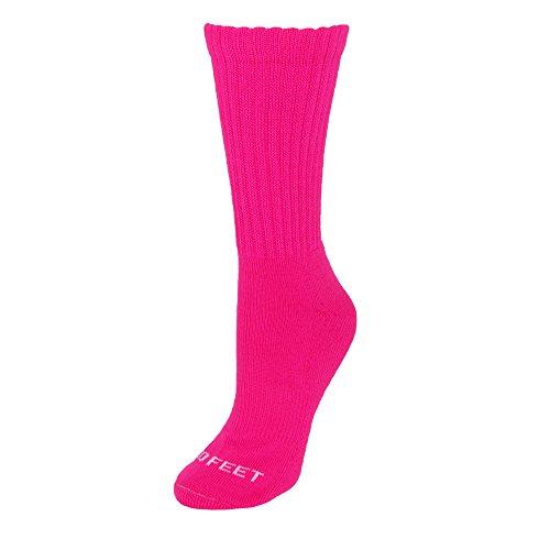 Acrylic Multi Sport Socks (Pro Feet Multi-Sport Crew Socks, Hot Pink, Medium)