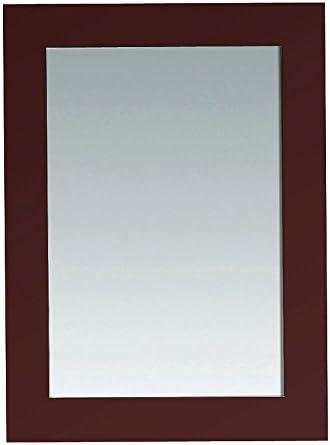 OVE DECORS ULC IMPORT PEAUSTENMR Austen 30 L x 22 W Wall Mounted Mirror in Dark Cherry