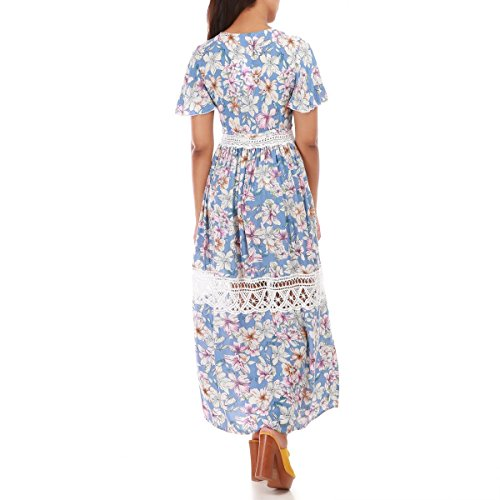 La Modeuse - Vestido - para mujer azul claro