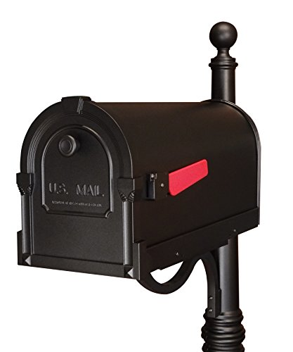 (Special Lite Products SCS-1014-BLK Savannah Curbside Mailbox, Black)